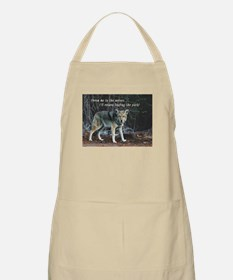 Menacing Wolf in the Woods Lead the Pack Apron