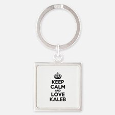 Keep Calm and Love KALEB Keychains