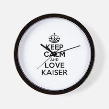 Keep Calm and Love KAISER Wall Clock