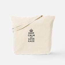 Keep Calm and Love KADE Tote Bag