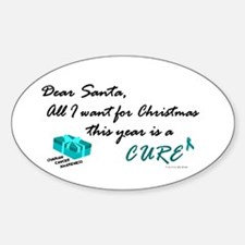 All I Want For Christmas OC Oval Decal