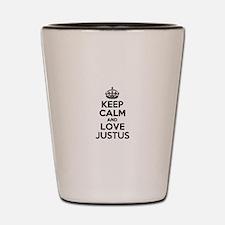 Keep Calm and Love JUSTUS Shot Glass