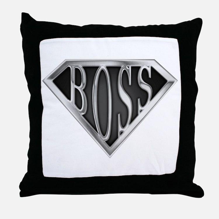 SuperBoss(metal) Throw Pillow