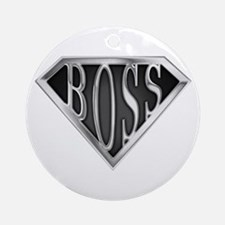 SuperBoss(metal) Ornament (Round)