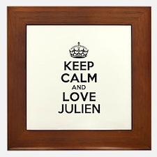 Keep Calm and Love JULIEN Framed Tile