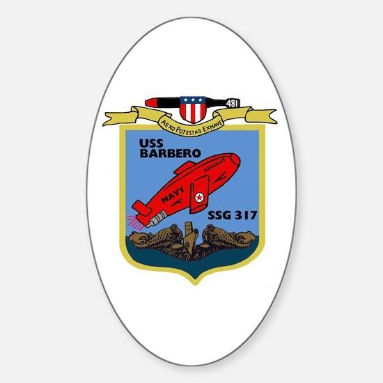 USS Barbero (SSG 317) Oval Decal