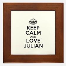 Keep Calm and Love JULIAN Framed Tile