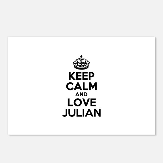 Keep Calm and Love JULIAN Postcards (Package of 8)
