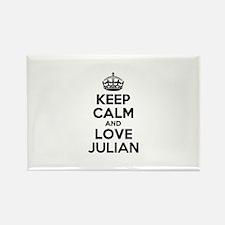Keep Calm and Love JULIAN Magnets