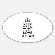 Keep Calm and Love JULIAN Decal