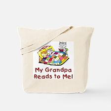 Grandpa Reads Tote Bag