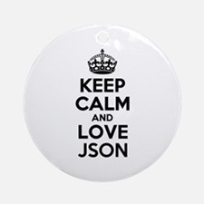 keep calm and love json round ornament
