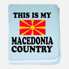 This Is My Macedonia Country baby blanket