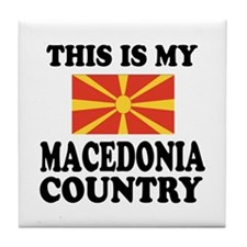 This Is My Macedonia Country Tile Coaster