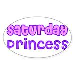 Saturday Princess Oval Sticker