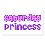 Saturday Princess Rectangle Sticker