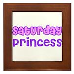 Saturday Princess Framed Tile
