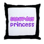 Saturday Princess Throw Pillow