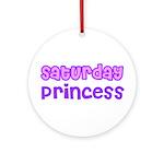 Saturday Princess Ornament (Round)