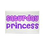 Saturday Princess Rectangle Magnet