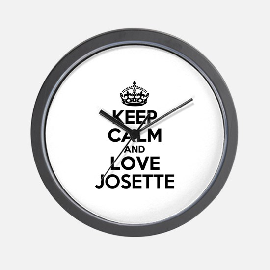 Keep Calm and Love JOSETTE Wall Clock