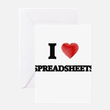 I love Spreadsheets Greeting Cards
