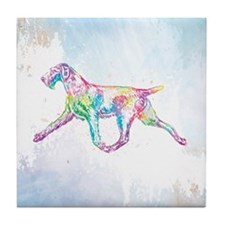 German Wirehaired Pointer Tile Coaster