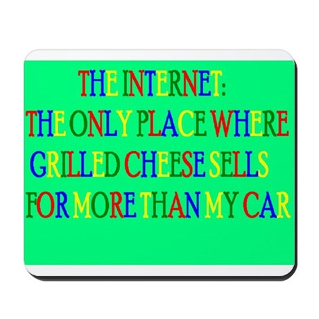 Grilled Cheese vs. My Car Mousepad