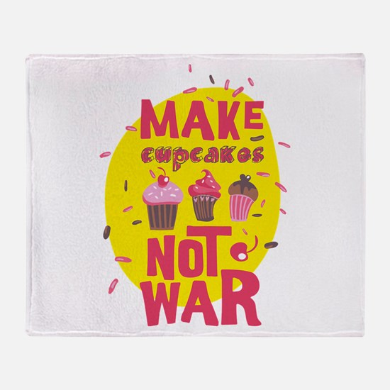 Peace Love Cupcakes Throw Blanket