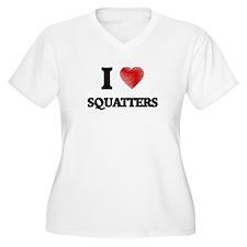 I love Squatters Plus Size T-Shirt