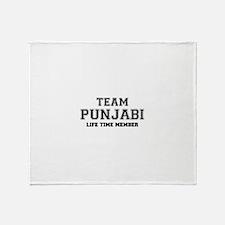 Team PUNJABI, life time member Throw Blanket