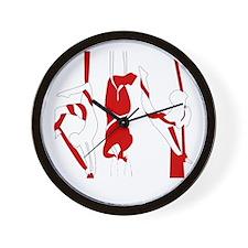 Aerial Silks Wall Clock