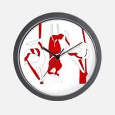 Aerial Silks Wall Clock