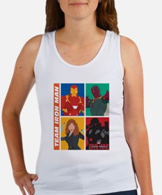Team Iron Man Squares Women's Tank Top
