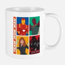 Team Iron Man Squares Mug