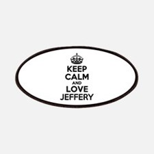 Keep Calm and Love JEFFERY Patch