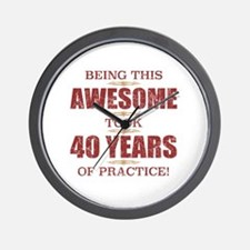 Funny 40 year olds Wall Clock