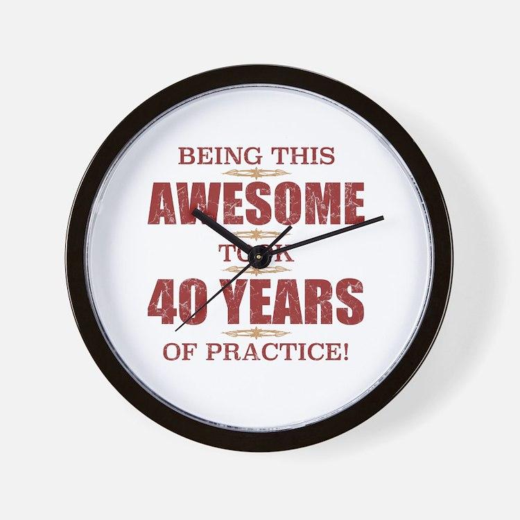 Cute 40th birthday for men Wall Clock