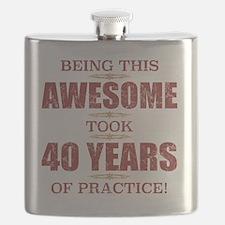 40th birthday men Flask