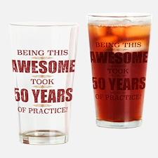 Unique 50th birthday men Drinking Glass