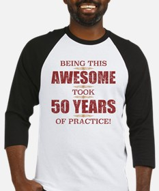 Funny 50th birthday for men Baseball Jersey