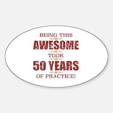 Cute Practice Sticker (Oval)
