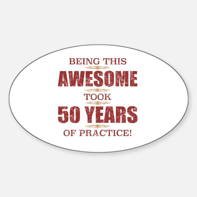 Cute Turning 50 Sticker (Oval)