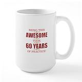60th birthday men Large Mugs (15 oz)