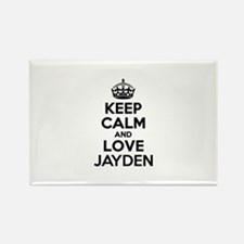 Keep Calm and Love JAYDEN Magnets