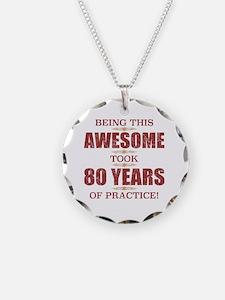 80 birthday men Necklace
