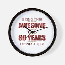 Funny 80 birthday men Wall Clock