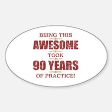Cute Worlds most awesome 90 year old Decal