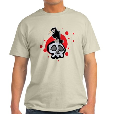 Skull and Black Crow Light T-Shirt