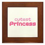 Cutest Princess Framed Tile